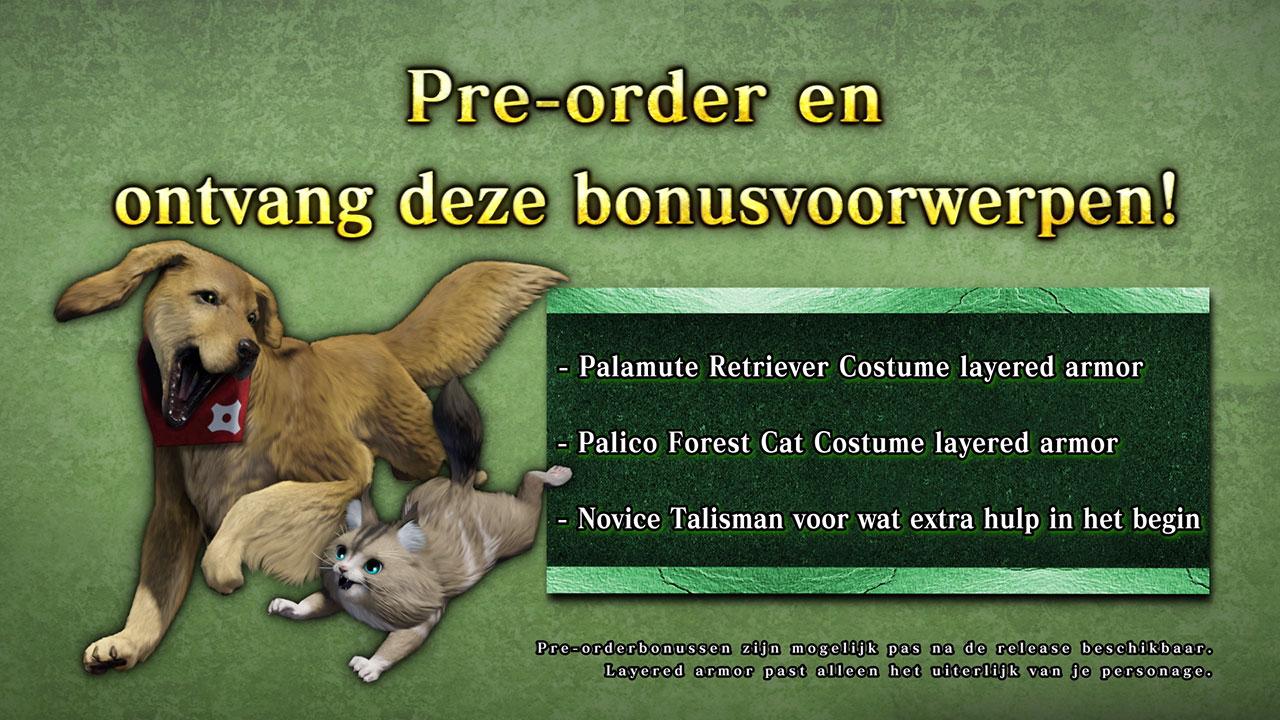 Pre-order bonus Monster Hunter Rise